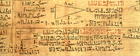 Papiro Ahmes (Rhind) escritura hierática