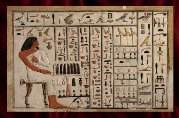 Numeración jeroglífica: Hijo del rey Wepemnefret con la ofrenda a su padre