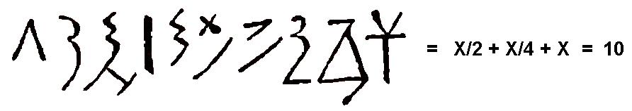 Ecuación algebraica egipcia