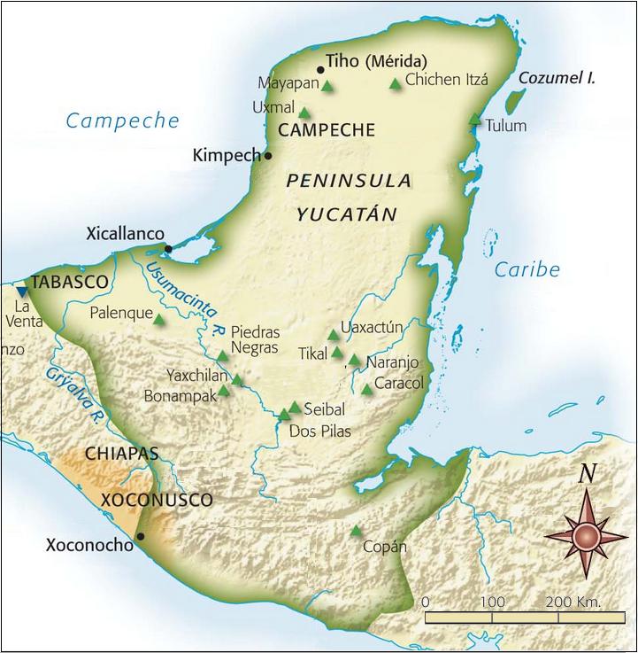 Zona de influencia Maya