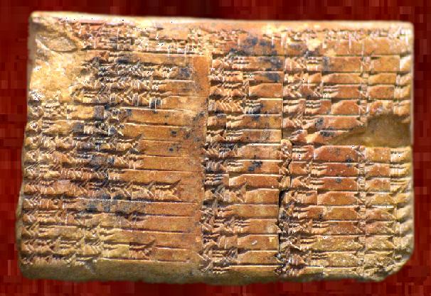 Tablilla Sumeria cuneifome de Larsa (Plimpton 322)