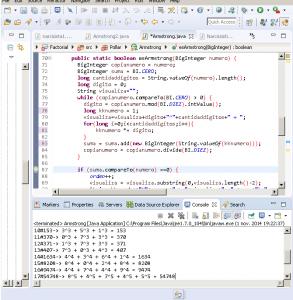 Generador de Numeros  Narcisistas programa en Java
