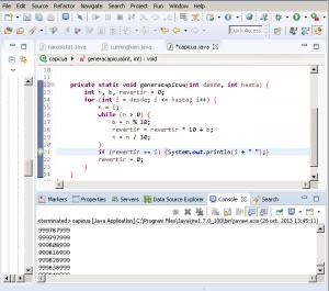 Capicuas programa en Java