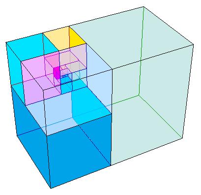 Espiral de Padovan con cubos