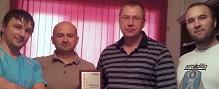 Igor Bykovskih, Sergey Ulasen, Vladimir Veselov y Andrey Adashchik
