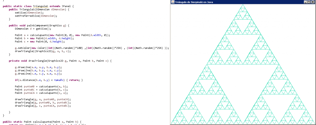 Triángulo de Sierpinski en Java